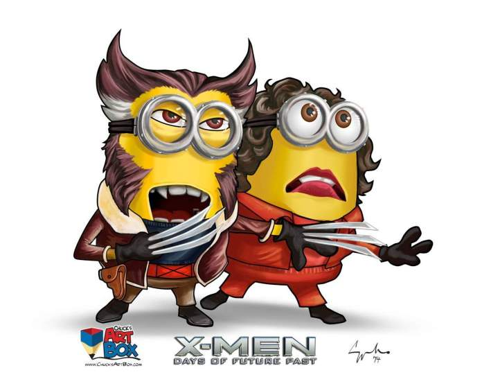 Vamers - Artistry - X-MINIONS Days of Future Past - Despicable Me Minions as X-MEN - Wolverine and Jean Grey