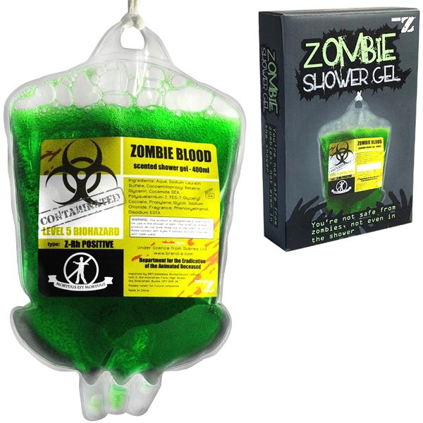 Vamers - Geekmas Gift Guide - Zombie Blood Shower Gel