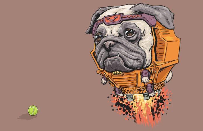 Vamers - Artistry - Fandom - Artist Josh Lynch Imagines Dogs as Superheroes from the Marvel Universe - MODOK