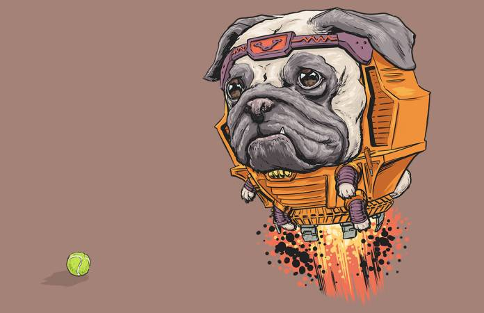 Vamers - Artistry - Fandom - Artist Josh Lynch Imagines Dogs as Superheroes from the Marvel Universe - MODOK