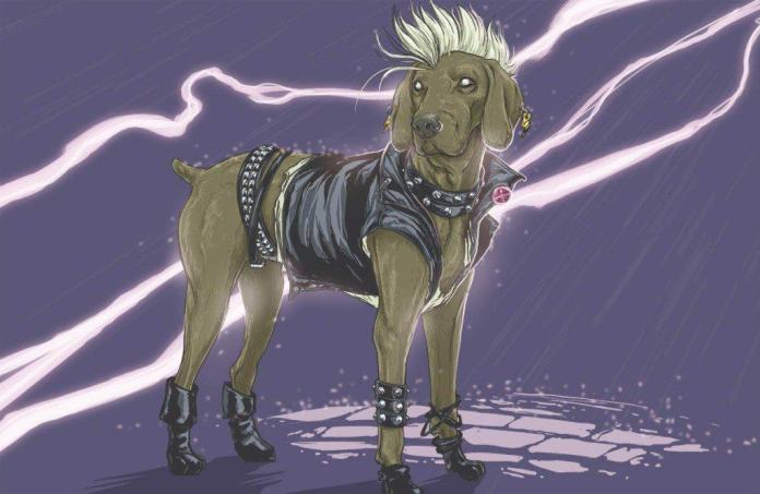 Vamers - Artistry - Fandom - Artist Josh Lynch Imagines Dogs as Superheroes from the Marvel Universe - Storm with Lightning