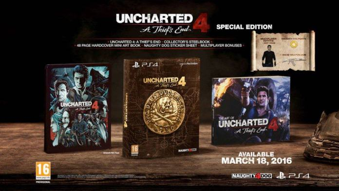 Vamers - FYI - Gaming - Uncharted 4 Release Date Announced and Collector's Editions Detailed - Special Edition