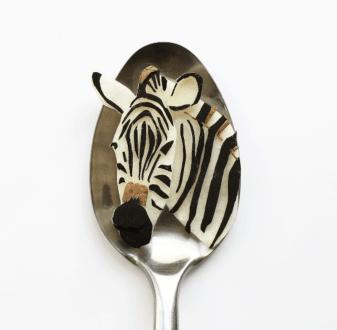Vamers - FYI - Artistry - Food - Ioana Vanc - Geeky Edible Artwork Created on Spoons - Zebra