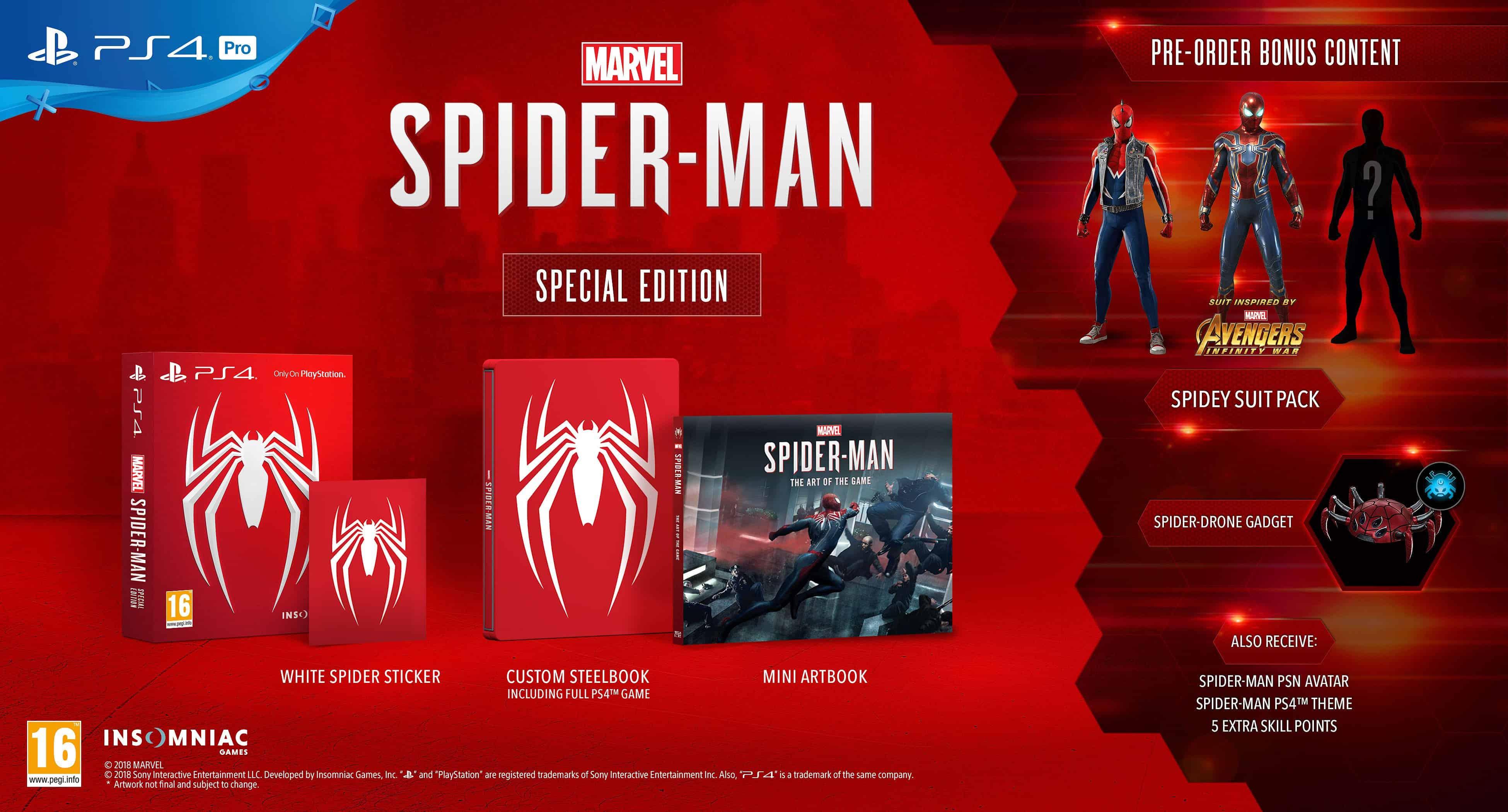 marvel spider man deluxe edition vs regular