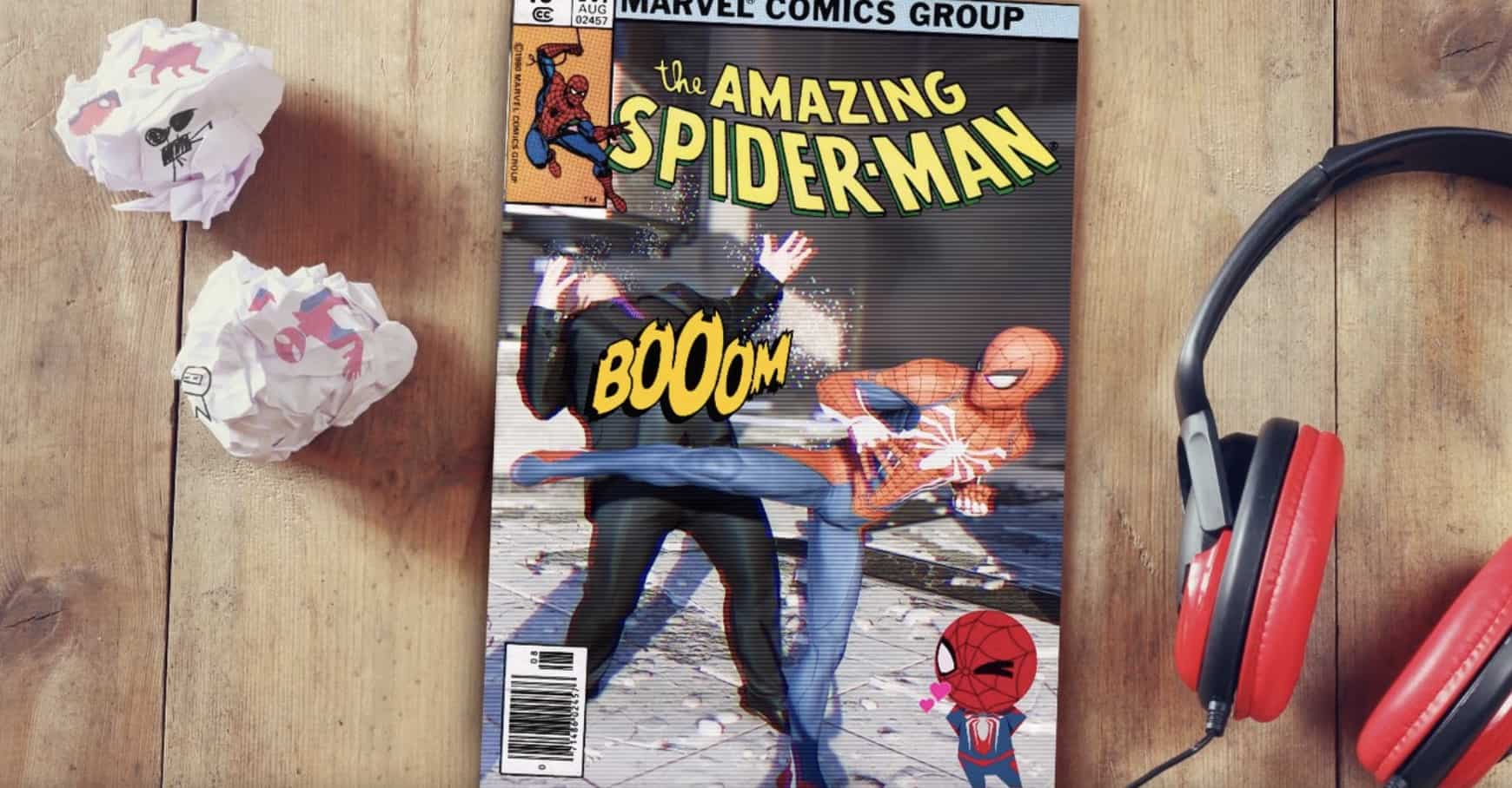 marvel s spider man photo mode lets you create your own comic covers