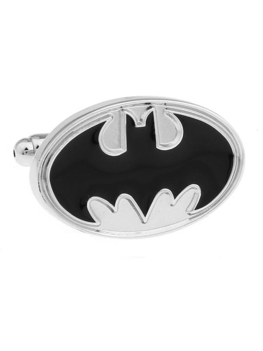 Vamers Store - Merchandise - Geek Chic - Accessories - Cufflinks - Gotham SIlver Bat Symbol Cufflinks Inspired by Batman - 01