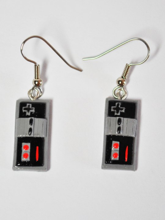 Vamers Store - Merchandise - Jewellery - Nintendo Inspired NES Controller Earrings 02