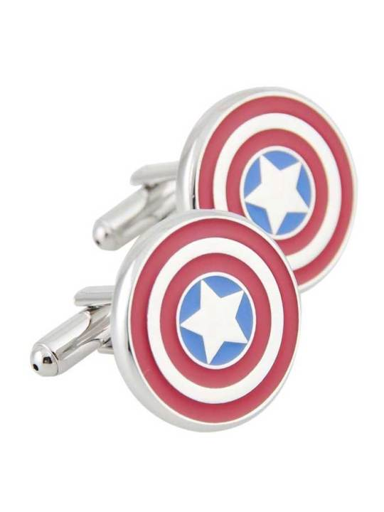 Vamers Store - Merchandise - Geek Chic - Accessories - Cufflinks - Captain America Inspired Shield Cufflinks 04