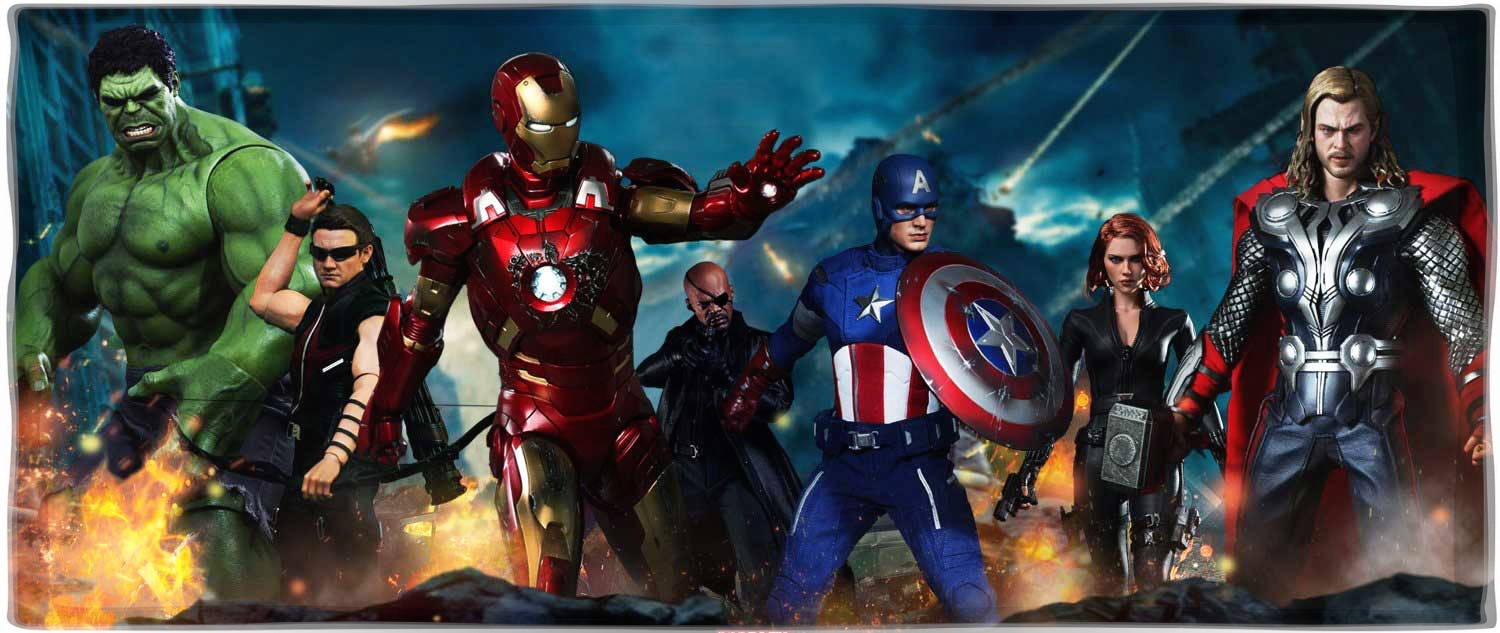 Vamers Store - Storefront Promotional Banner - Hot Toys The Avengers Page