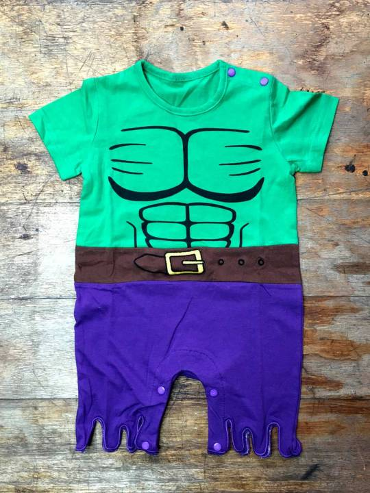 Vamers Store - Apparel - Baby Clothing - The Incredible Hulk Suit Baby Grow Romper - 01