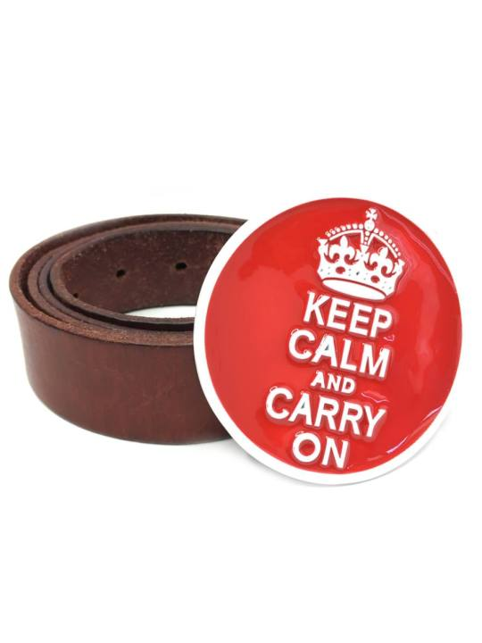 Vamers Store - Merchandise - Geek Chic - Accessories - Keep Calm and Carry On Belt Buckle inspired by Popular Culture - 04