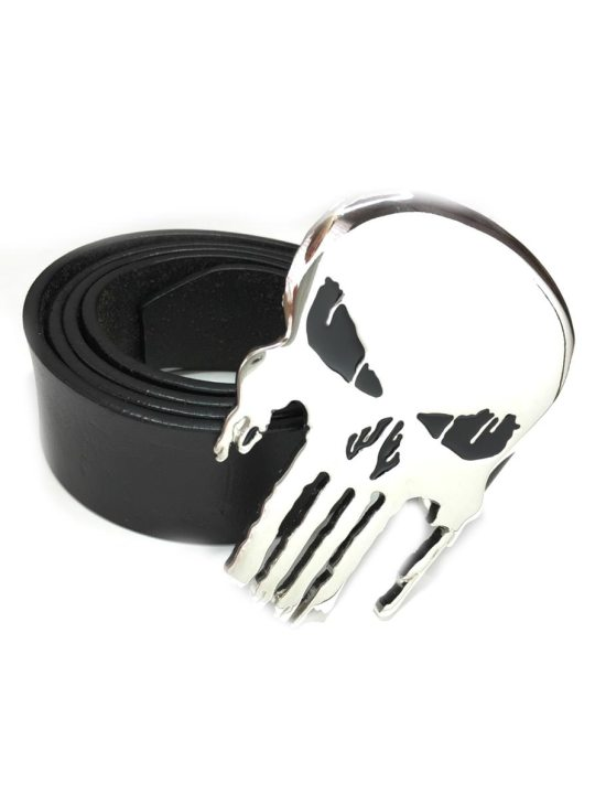 Vamers Store - Merchandise - Geek Chic - Accessories - Punisher Skull Logo Belt Buckle inspired by Marvel Comics - 04