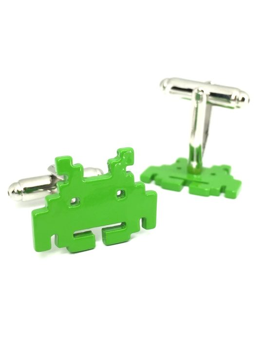 Vamers Store - Merchandise - Geek Chic - Accessories - Cufflinks - Space Invader Cufflinks inspired by Space Invader - Enamel and Metal - 03