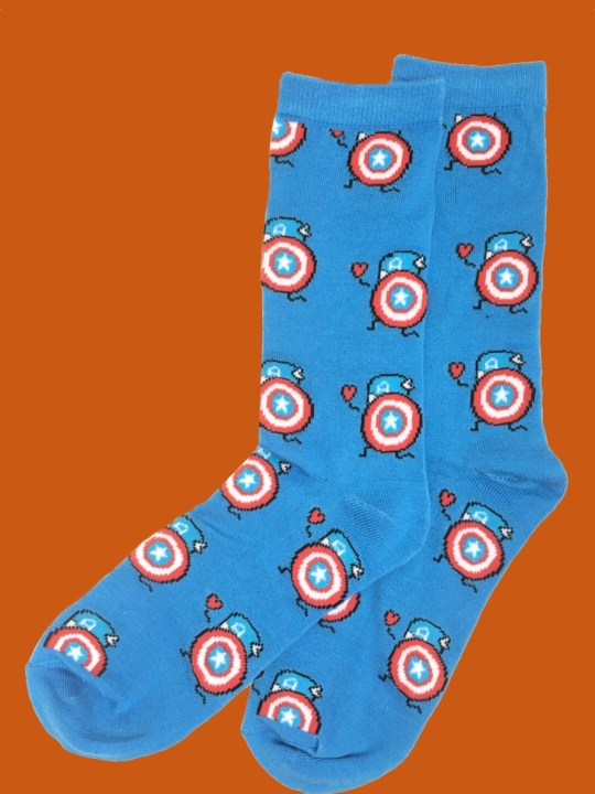 vamers-store-apparel-socks-dc-comics-captain-america-caricature-socks-acrylic-polyester-spandex-blend-01