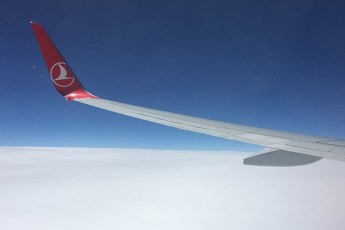 Avião Turkish Airlines no ar