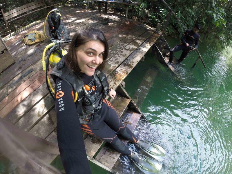 Mergulhando pela primeira vez