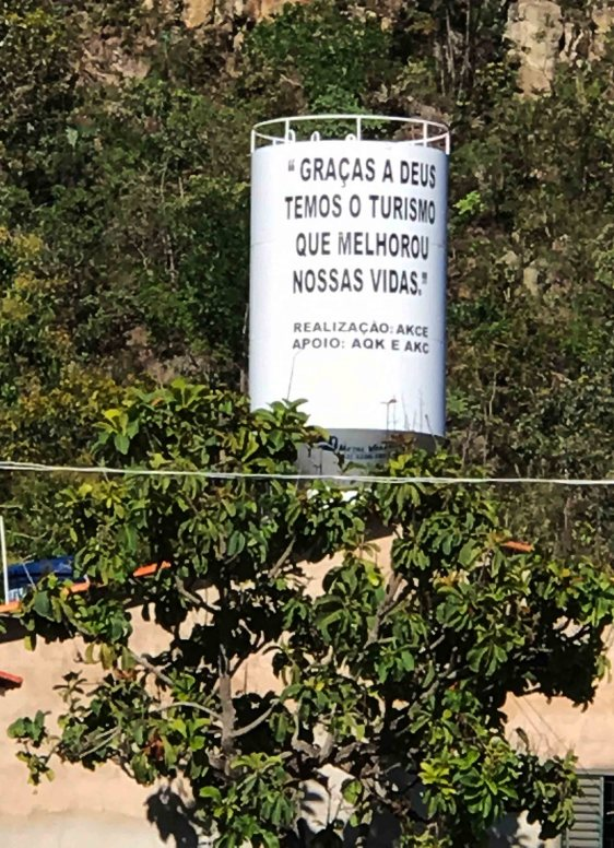 caixa d'agua comunidade Kalunga