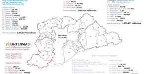 Região Metropolitana de São Paulo 2019 - Dados IBGE 2010/2019 – Comparando informações voltadas para transporte metropolitano