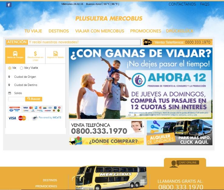 Mercobus Antigo Site - Ônibus para Argentina – Excelência no atendimento ao passageiro