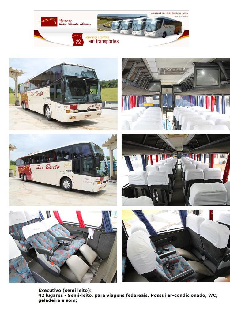 Viação São Bento 2011 - Serviço Semi Leito – Conceitos sobre esta categoria de transporte rodoviário