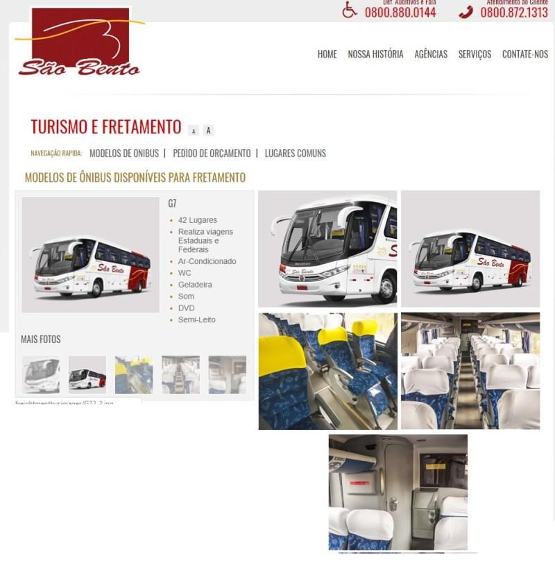 Viação São Bento 2019 - Serviço Semi Leito – Conceitos sobre esta categoria de transporte rodoviário
