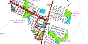 Setor HABITETO Sorocaba H Sta Madre Paulina Eucaliptos - Regiões em expansão de Sorocaba – Linhas de ônibus urbanas predominantes