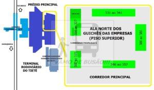 Localização da Ala Norte dos Guichês das empresas no TIETE 300x177 - Rodoviárias de São Paulo – Informações úteis. sobre os 3 (três) terminais rodoviários da capital paulista