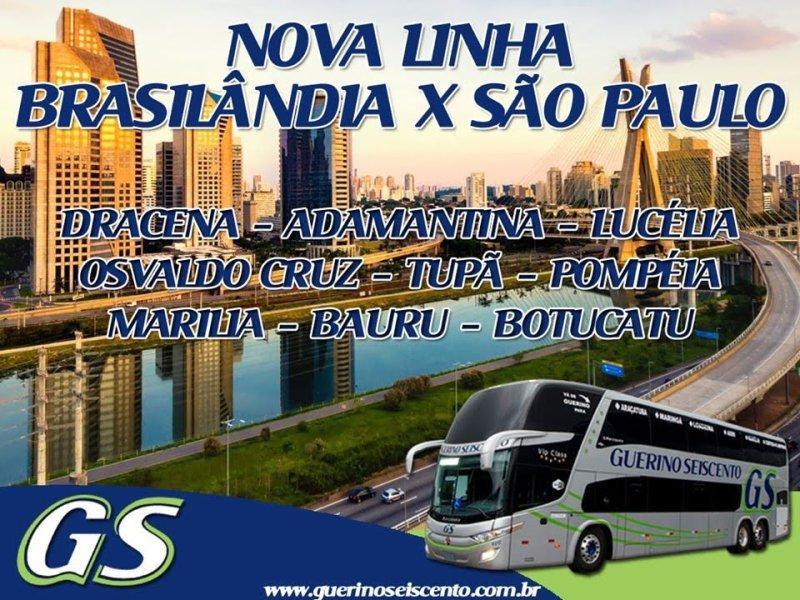 Linha Brasilândia São Paulo Propaganda 29 11 2019 - Rodoviária de Osvaldo Cruz – Um pouco do interior paulista
