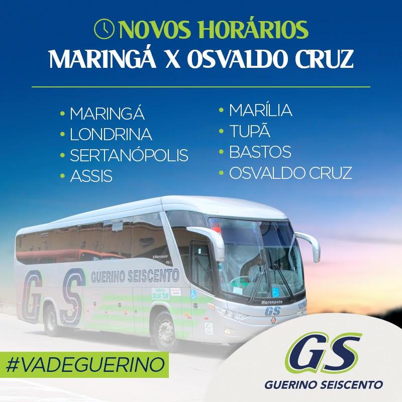 Proaganda Guerino 13 10 2016 Linha Maringá Osvaldo Cruz - Rodoviária de Osvaldo Cruz – Um pouco do interior paulista