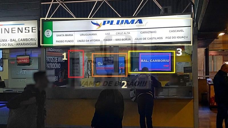 GUICHÊ DA PLUMA 1 - Terminal Rodoviário São Paulo – Informações sobre atendimentos