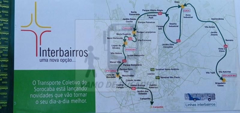 Folheto de Divulgacao Frente - Cidade de Sorocaba – Linhas Interbairros