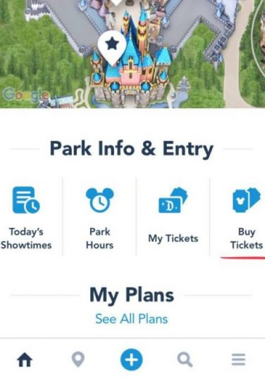 Aplicación de Disneyland Comprar boletos para Disneyland