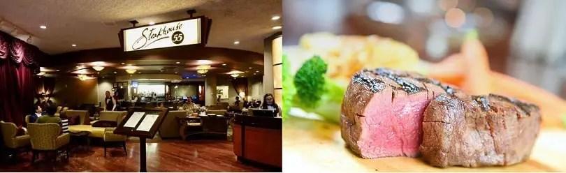 cena romantica en disneyland steakhouse 55