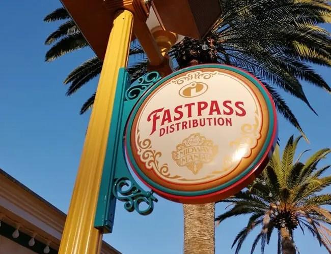 Fastpass en Disneyland California