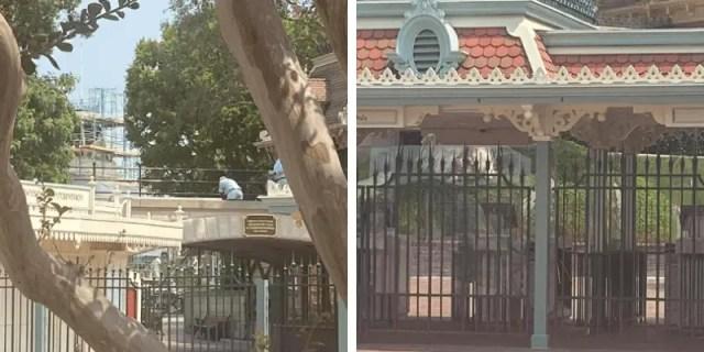 Plexiglás en la entrada de Disneyland