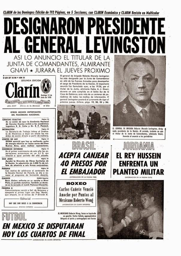 Aramburu-Clarín 14.06.1970