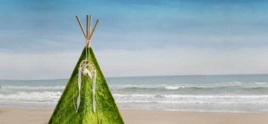 Detalle Tipi Modelo Green Grass & Atrapasueños