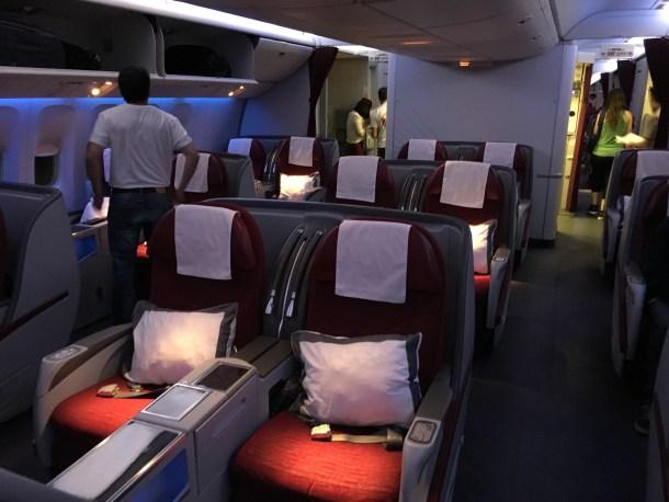 Business Class de Qatar EZE-GRU-DOH