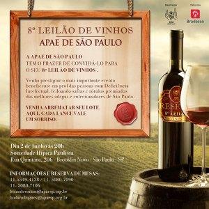 8º Leilão de Vinhos da APAE  de São Paulo