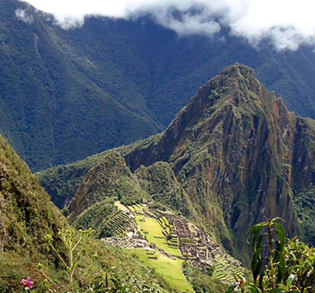 Vista da montanha Machu Picchu
