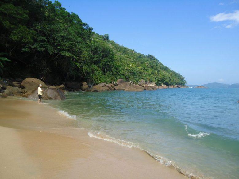 Praia do alto em Ubatuba