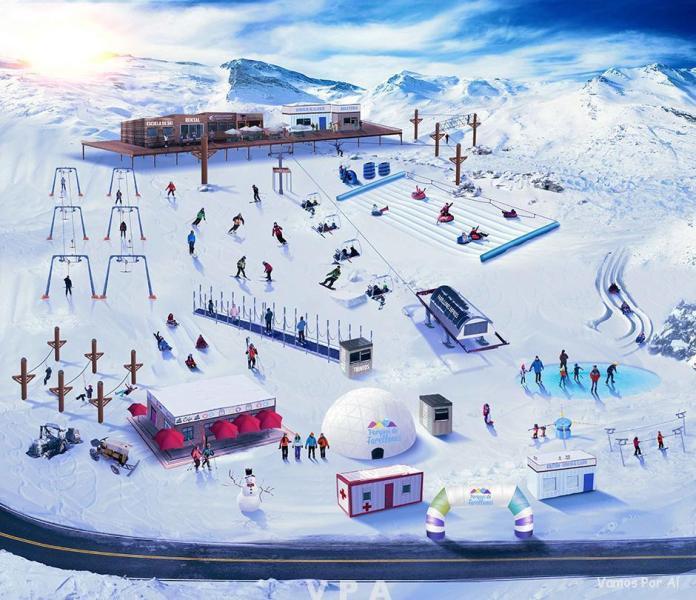 Neve em Farellones no Chile 5