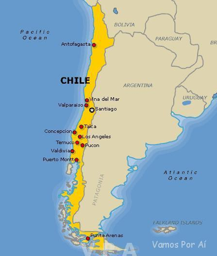 Roteiro no Chile