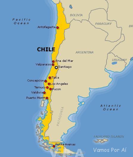 Roteiro no Chile