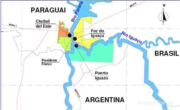 Tríplice fronteira: roteiro em foz do iguaçu indo também para a argentina