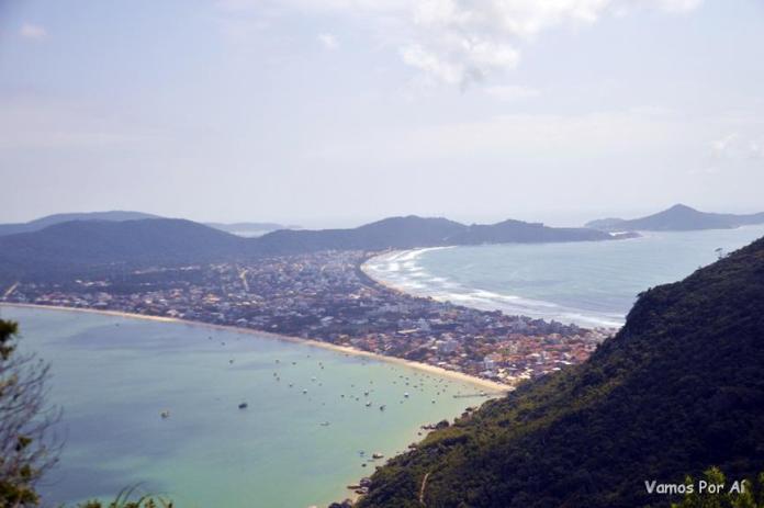 Vista de Bombinhas do Mirante Eco 360º em Bombinhas