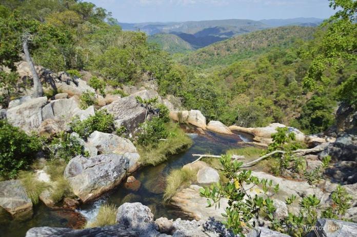Cachoeira Capivara na Chapada dos Veadeiros como é
