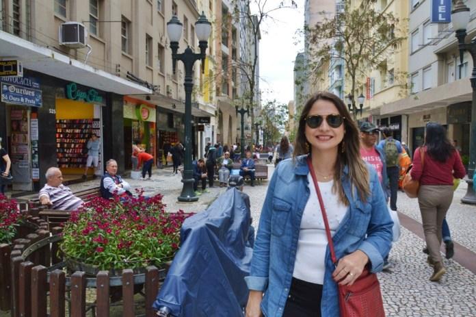 Rua das Flores em Curitiba
