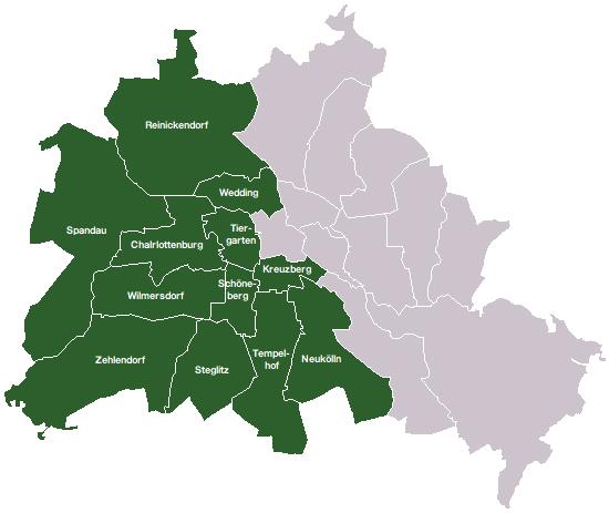 mapa de berlim dividido, mapa de berlm ocidental, como era a divisao de berlim