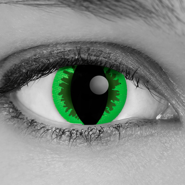 GOTHIKA Green Reptile FX Contact Lenses